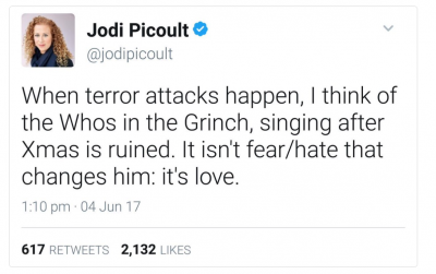 Jodi Picoult tweet