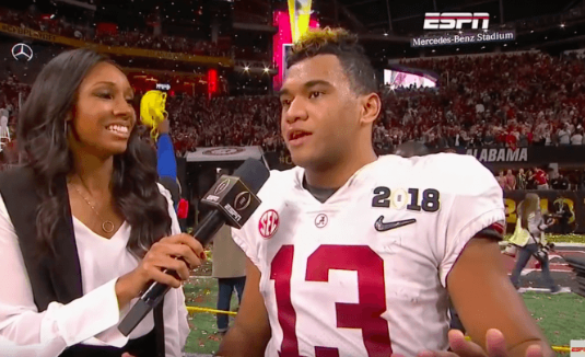 Standing With Jesus on College Football's Biggest Stage